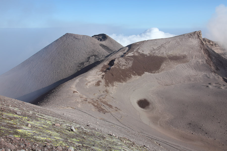 Mount Etna volcano, Summit region with conical SE Crater, Sicily, Italy 2011